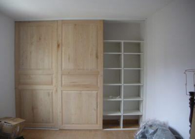 aménagement placard étagères