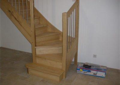 escalier chataignier tournant